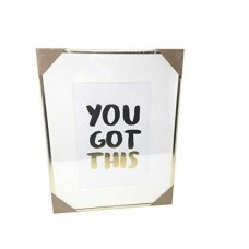 Celebrate Shop 'You Got This' Inspirational Framed Print Gold 18×14
