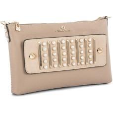 Celine Dion Maestro Faux Leather Handbag  Clutch (Beige)