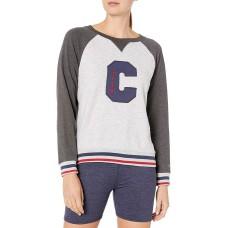 Champion Women's Heritage Fleece Crew Sweatshirt (Oxford Grey Heather/Granite Heather, 2XL)