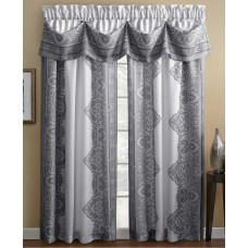 Chapel Hill by Croscill Countess Panel (Grey, 54-Inch by 63-Inch)