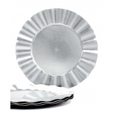 Charge it by Jay Ruffle Rim Charger Plates (Silver, Set of 4 )