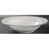 Charter Club Grand Buffet Fine Line Gold Rim Soup Bowl