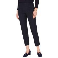 Charter Club Plaid Slim-Leg Ankle Pants (Navy Plaid Combo, 4)