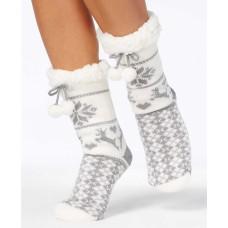 Charter Club Women's Fair Isle Slipper Socks