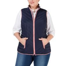 Charter Club Women's Plus Size Contrast-Trim Vests