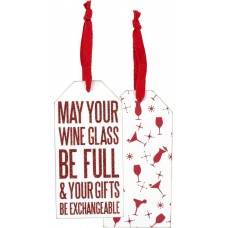 Christmas Bottle Tag – May Your Wine Glass Be Full