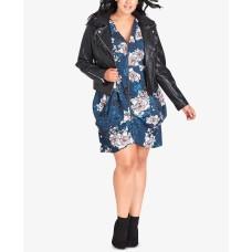 City Chic Women's Plus Size Trendy Faux-Fur-Collar Jackets