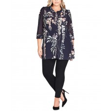 City Chic Women's Trendy Floral Tunic
