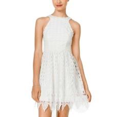 City Studios Juniors Sleeveless Lace Womens Dress