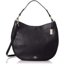 Coach 36026 Leather Nomad Glovetanned Hobo Shoulder Bag (Light Gold / Navy)