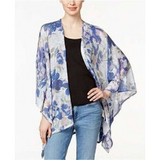 Collection XIIX Watercolor Floral Batwing Poncho