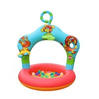 Colorful Inflatable Plastic 3 Ring Swimming Pool for Birthday Parties of Kids, Boys & Girls, Blow Up Kiddie Water & Ball Pools for Indoor & Outdoor Pool, Swimming and Play Parties for Kids in Various Sizes