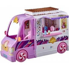 Disney Princess Comfy Squad Sweet Treats Truck, Playset with 16 Accessories, Pretend Ice Cream Shop
