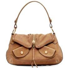 Dkny Effie Zip Driftwood Leather Handbag (Dark Beige)