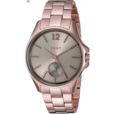 DKNY Eldridge Grey Sunray Dial Rose Gold-tone Ladies Watch NY2518