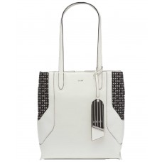 Dkny Jade Tall Signature Handbag Totes (White)