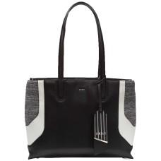DKNY Jade Wide Handbag Tote (Gray/Black)
