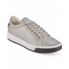 DKNY Men's Samson Lace-Up Sneakers Shoes (Silver, 12)