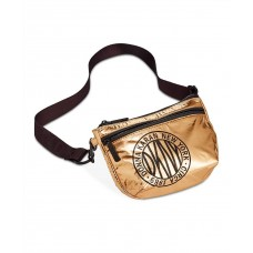 DKNY Metallic-Foil Logo Belt Bag (Gold, M/L)