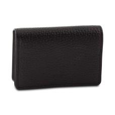 DKNY Pebble Leather Card Holder (Black)