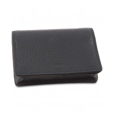 DKNY Pebble Leather Card Holder (Gray)