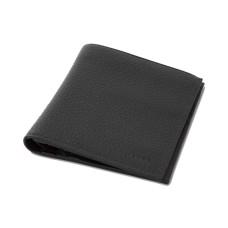 DKNY Pebble Leather Zip-Pocket Passcase Wallet, Black