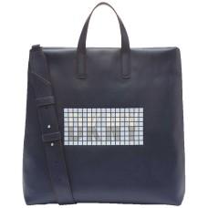 DKNY Tilly Tile Logo Handbag Totes (Navy)