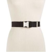 DKNY Women's Seat Belt-Buckle Logo Belt