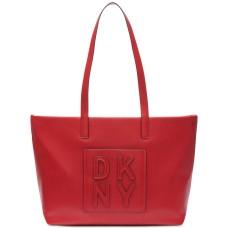 DKNY Women's Tilly Stacked Logo Top Zip HandBag Totes