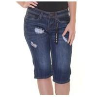 Dollhouse Juniors' Ripped Denim Bermuda Shorts Size 0