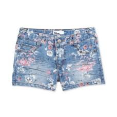 Epic Threads Floral-Print Denim Shorts