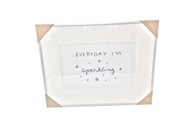 'Everyday Im Sparkling' Framed Print 14×18 (Everyday I'm sparkling)