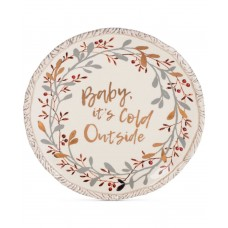 Fitz and Floyd 49-786 Wintry Woods Holiday Serving/Sharing Plate, 9.75-Inch