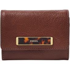 Fossil Rfid Blake Small Flap Wallet Handbag (henna)
