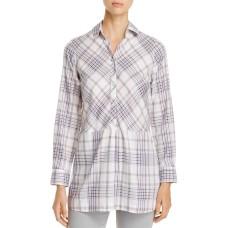 Foxcroft Women's Maddy Winter Plaid Tunic Tops