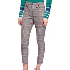Free People Womens Tailored Plaid Cropped Pants (Black, 0)
