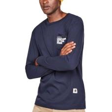 G-Star Raw Men's Long-Sleeve Uniform of the Free Pocket T-Shirt (Navy, Large)