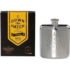 Gentlemen's Hardware Hip Flask – 6 oz.( COLOR: Stainless Steel )