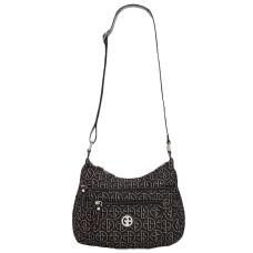 Giani Bernini Circle Signature Lurex Handbag Hobo (Black)