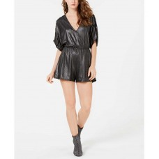 Guess Women's Rivieria Metallic Ruched Rompers
