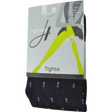 Hanes Womens Double Dot Tights (Black, Mauve Small)