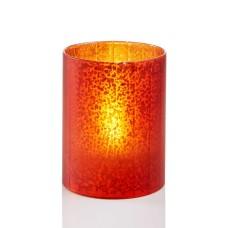 Holiday Lane 3″ X 4″ LED Candle Holder Christmas Holiday Decorations (Red/Orange)