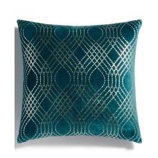 Holiday Lane Diamond Foil Printed Decorative Pillow (Green)
