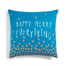 Holiday Lane Happy Merry Everything Decorative Pillow (Blue)
