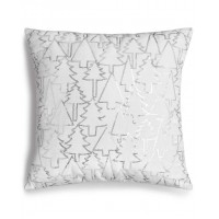 Holiday Lane Silver Sequin Tree 16″ Square Decorative Pillow