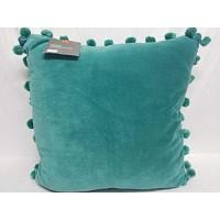 HOME DESIGN STUDIO – Pom Pom Turquoise 20 x 20 Decorative Pillow