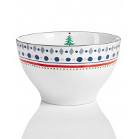 Home Essentials & Beyond Festive Tree Collection Borders Bowl