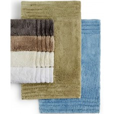 Hotel Collection 100% cotton 24″ x 60″ Bath Rug (Spa Blue)