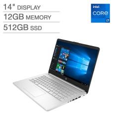 HP 14″ Laptop – 11th Gen Intel Core i7-1165G7 – 1080p 12GB DDR4 2666MHz SDRAM