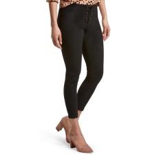 HUE Lace-Up Microsuede Skimmer Leggings (Black, M)